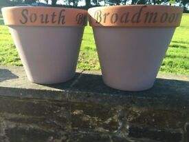 Personalised Garden Terracotta Painted Pots
