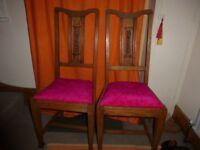 Art deco oak dining chairs