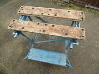 Vintage Black and Decker workmate. Old school portable work bench
