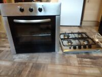 Gas hob electric oven