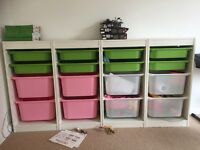 Ikea children's storage unit with drawers.