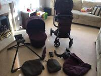 Mamas and papas mylo pushchair and carrycot and accessories