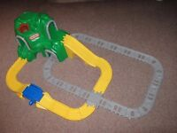 'LITTLE TIKES' LARGE MOUNTAIN ROAD & RAIL TRACK SET WITH TRAIN HELICOPTER CAR PEOPLE AND CARRIAGES