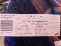 1x Nick Cave and Warren Ellis in Cardiff (26/09)