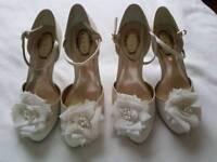 Bridal shoes size 3&5
