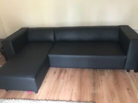 Faux Leather 3 Seater Left Hand Chaise sofa