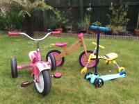 Kids bikes, trikes and scooter!