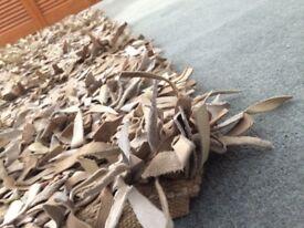 Designer Look Rug - Leather Shag Pile