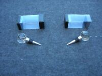 2 x Crystal Wine Bottle Stoppers 35mm