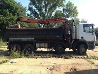 32 tonne tipper/grab. 1 years m o t.