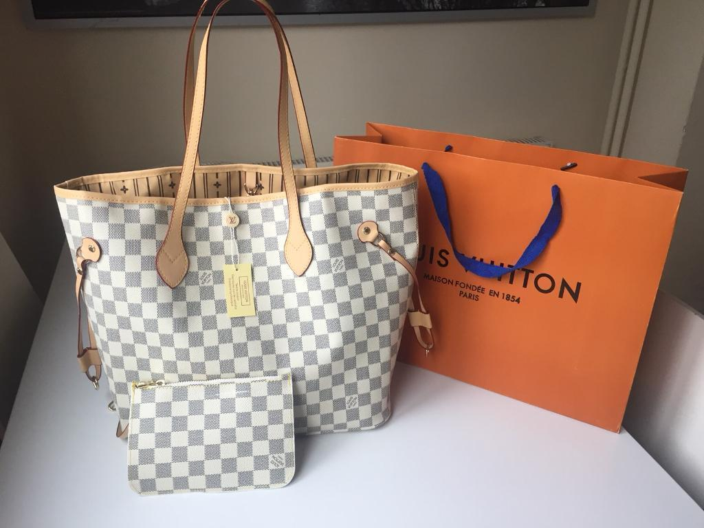 8ec26a7eb5a8 Louis Vuitton Neverfull Designer Womens Handbag Bag Clutch Pouch Purse  Wallet