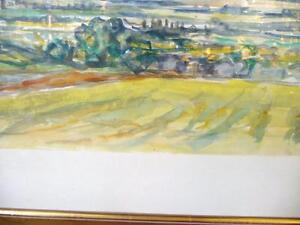 "Heinrich Waser "" Panoramic Landscape"" 1961 Original Watercolor Stratford Kitchener Area image 7"