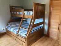 Triple Pine Bunk Bed withdrawers