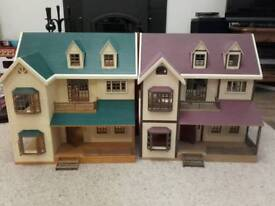 Sylvanian Family House on the Hill x 2