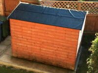 6x8 REVERSE GARDEN SHED EURO APEX FULL T&G WOOD HUT- STRONG never used.