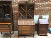 Charming 1940s Solid Oak Bureau Dresser