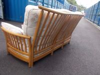 Excellent Condition Ercol Three Piece Suite Sofa Settee Including Arm Chairs Renaissance