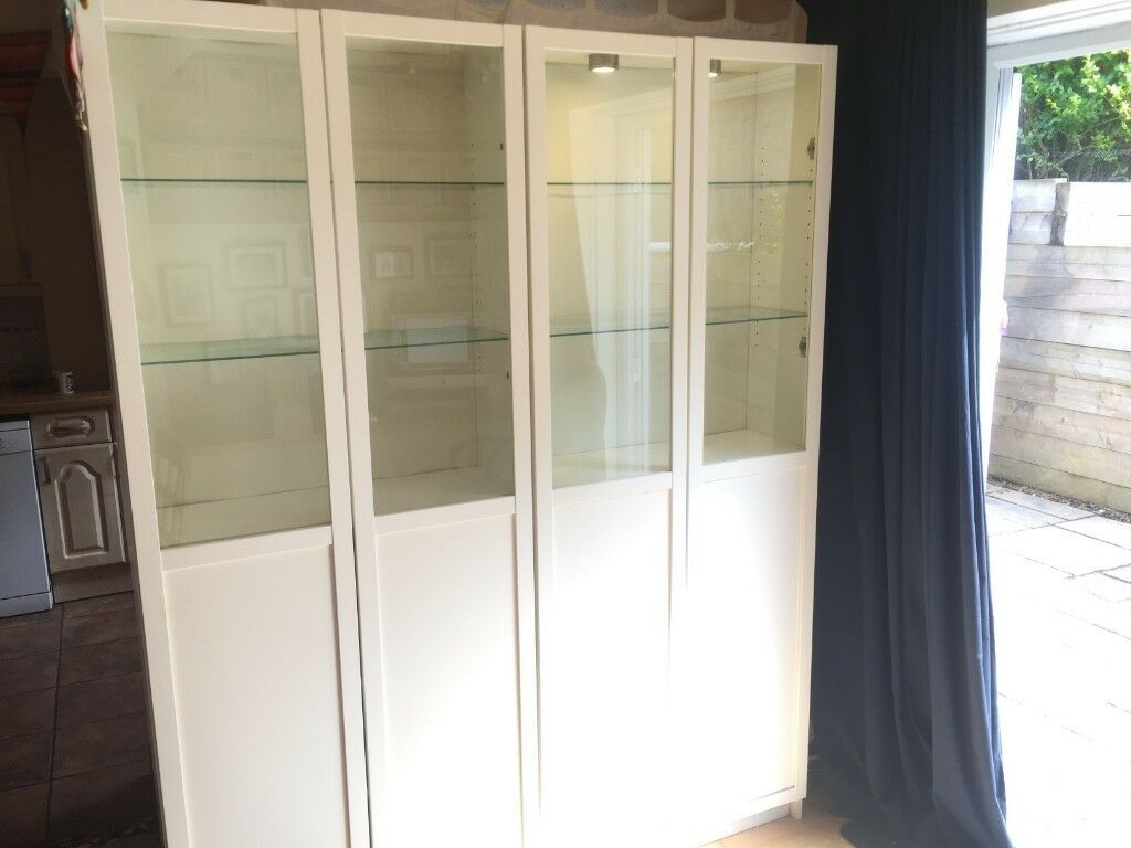 2 Billy White Bookcases Make Me An Offer One With Lights Two Glass Shelves Each In Southampton Hampshire Gumtree