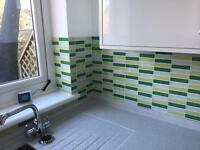 Green Kitchen / Bathroom Mosaic Tiles