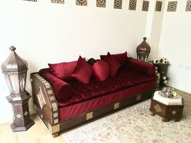 Luxurious Moroccan Sofa Couch, Corner Suite, Majlis, Bench, Daybed, Floor Seating, Moroccan decor