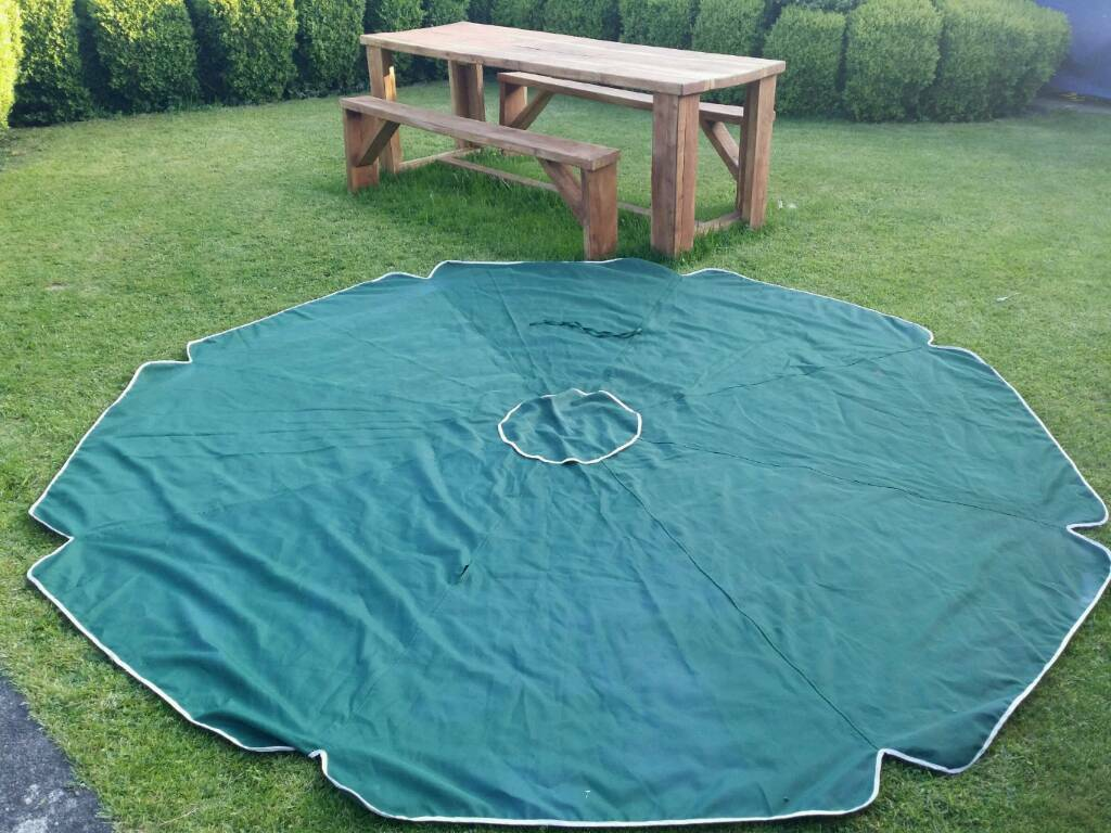 3m garden parasol quality green cover | in Grange-over-Sands, Cumbria |  Gumtree