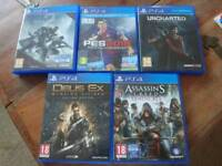 PS4 games for sale in perfect condition. All under 3 months old.