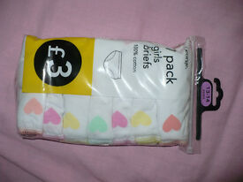 Brand new 7 pack of 100% cotton briefs/ knickers/ pants for girl 13-14 years.