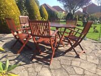 Patio Set Table & 6 Chairs