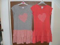 Dresses - peach / grey
