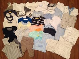 50 piece bundle of baby's tiny baby/ newborn/ first size