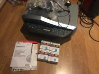 Canon printer/fax/scanner for parts (does not work) including new inks