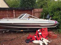 Glaston 14ft speed boat