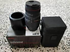 Sigma 70-300mm f4-5.6 APO DG Macro For Nikon Digital & Film Cameras-Black