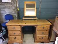 Schreiber (Solid wood) Dressing table & 2 bedside tables
