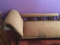 Fabulous Victorian Oak Chaise Longue
