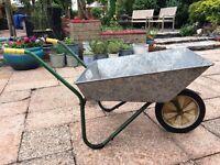 Wheelbarrow - Lightweight galvanised steel - good working order - full measurements below