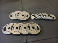 Weight plates 100kg total (not bumper plates)