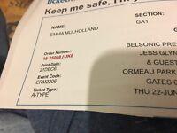 Jess Glynne - Belsonic x 2 tickets - Thursday 22 June
