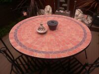 Terracotta Mosaic Garden Table