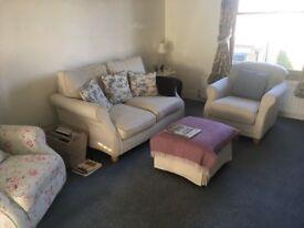 Laura Ashley Style Sofa Set