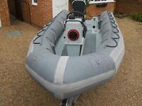 Avon 5.4 Searider. Fully reconditioned Naval spec. with brand new trailer