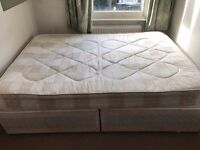 Double bed base and mattress for sale - Archway - £40 - Good condition