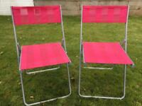 Pair of pink chairs