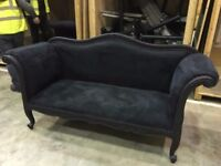Black Velvet 3 Seater Sofa - £200.00