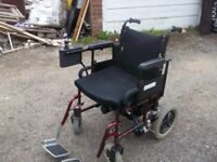 Electric wheelchair roma 0-4 mph folds to fit in car