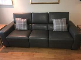 2 Top of the range leather couches