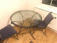 Round Glass Dining Kitchen Table
