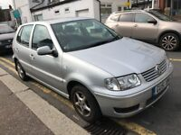 VW POLO 2001 1.4 petrol hatchback manual 100k silver £795
