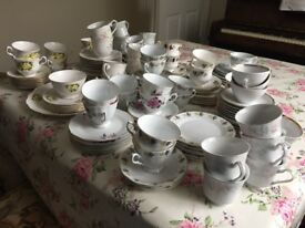 Job lot cups and saucers over 150 pieces of crockery