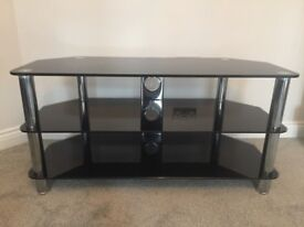 Black Glass TV Stand- Good Condition